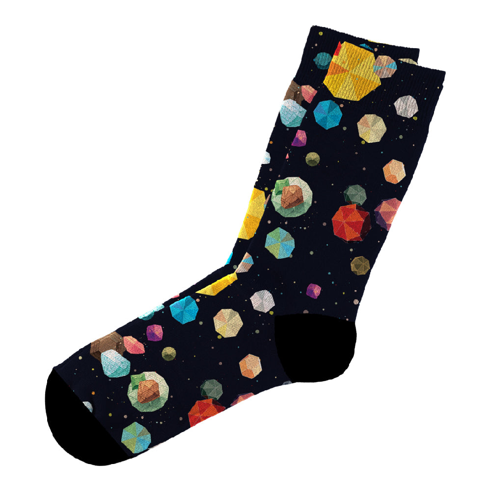 Κάλτσες #doyoudaresocks Digital Printed Casual Asteroids (code 60107)
