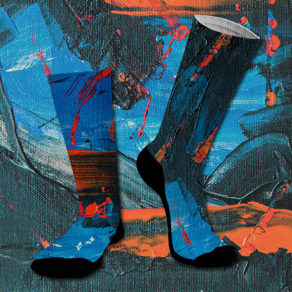 Κάλτσες #doyoudaresocks Digital Printed SuperSport Real Canvas (code 70008)