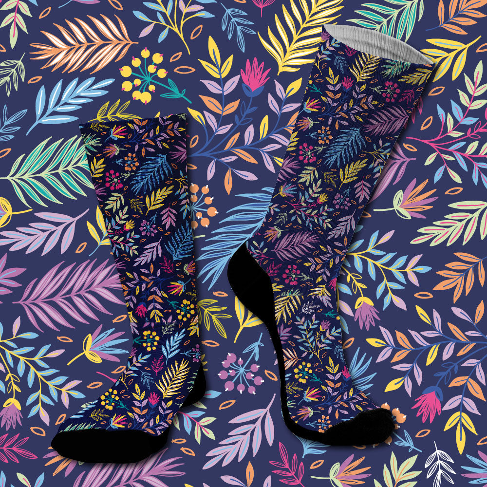 Κάλτσες #doyoudaresocks Digital Printed SuperSport Floral (code 70015)