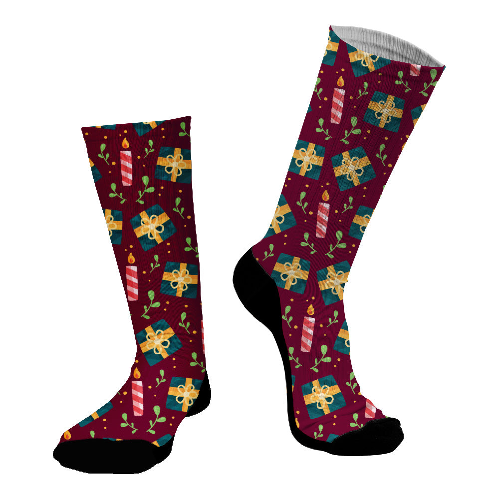Κάλτσες #doyoudaresocks Digital Printed SuperSport Christmas Candles (code 70060)
