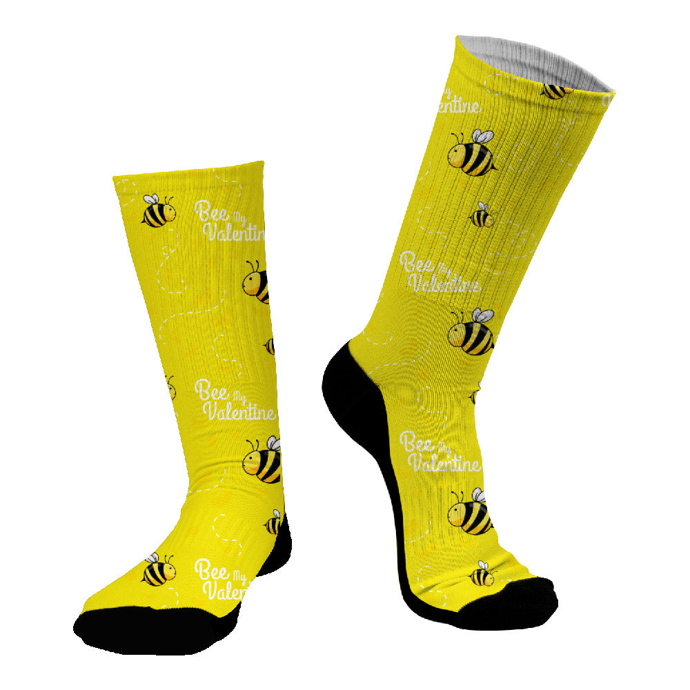 Κάλτσες #doyoudaresocks Digital Printed SuperSport Bee My Valentine (code 70087)