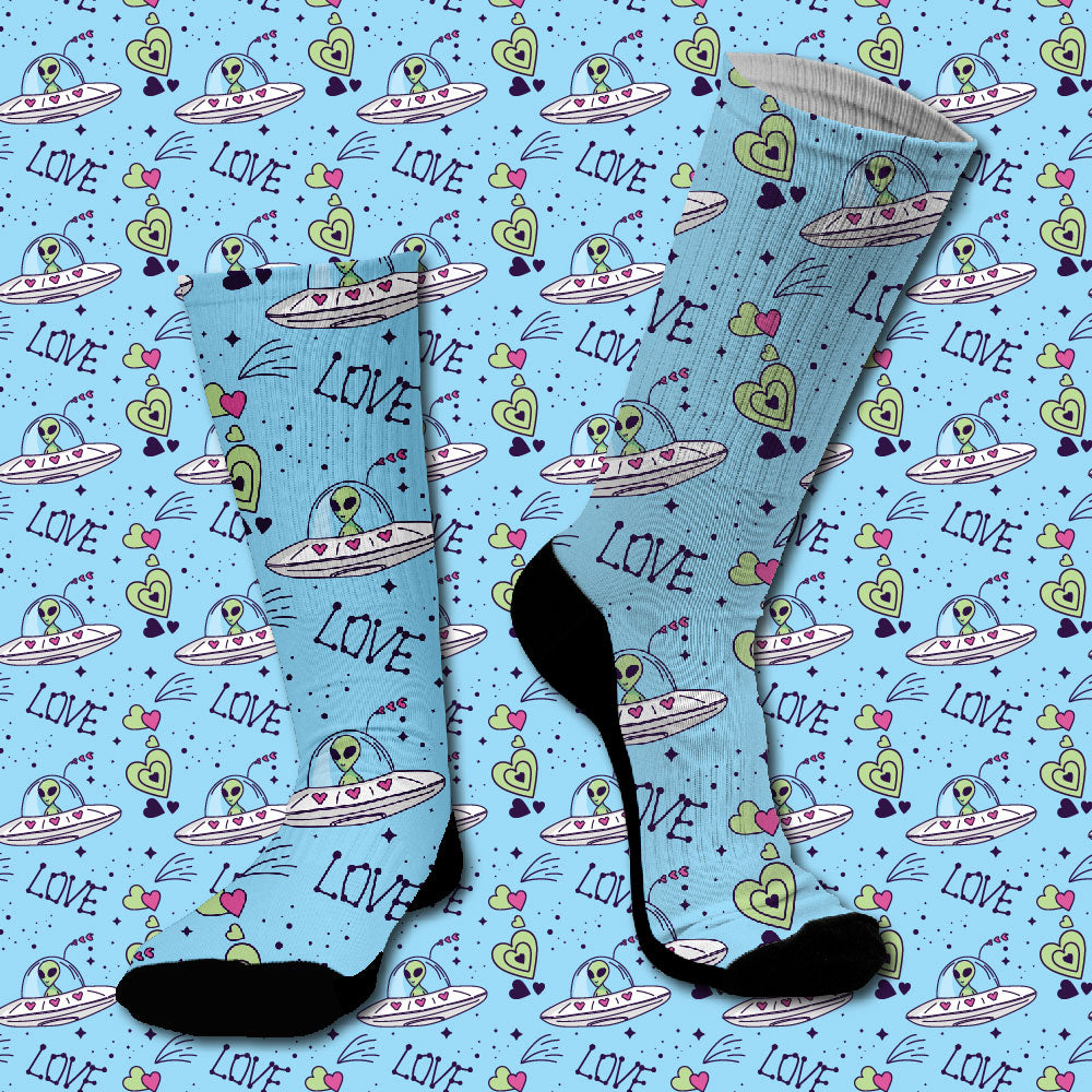 Κάλτσες #doyoudaresocks Digital Printed SuperSport Aliens Of Love (code 70092)