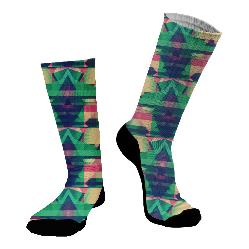 Κάλτσες #doyoudaresocks Digital Printed SuperSport Glitch (code 70104)