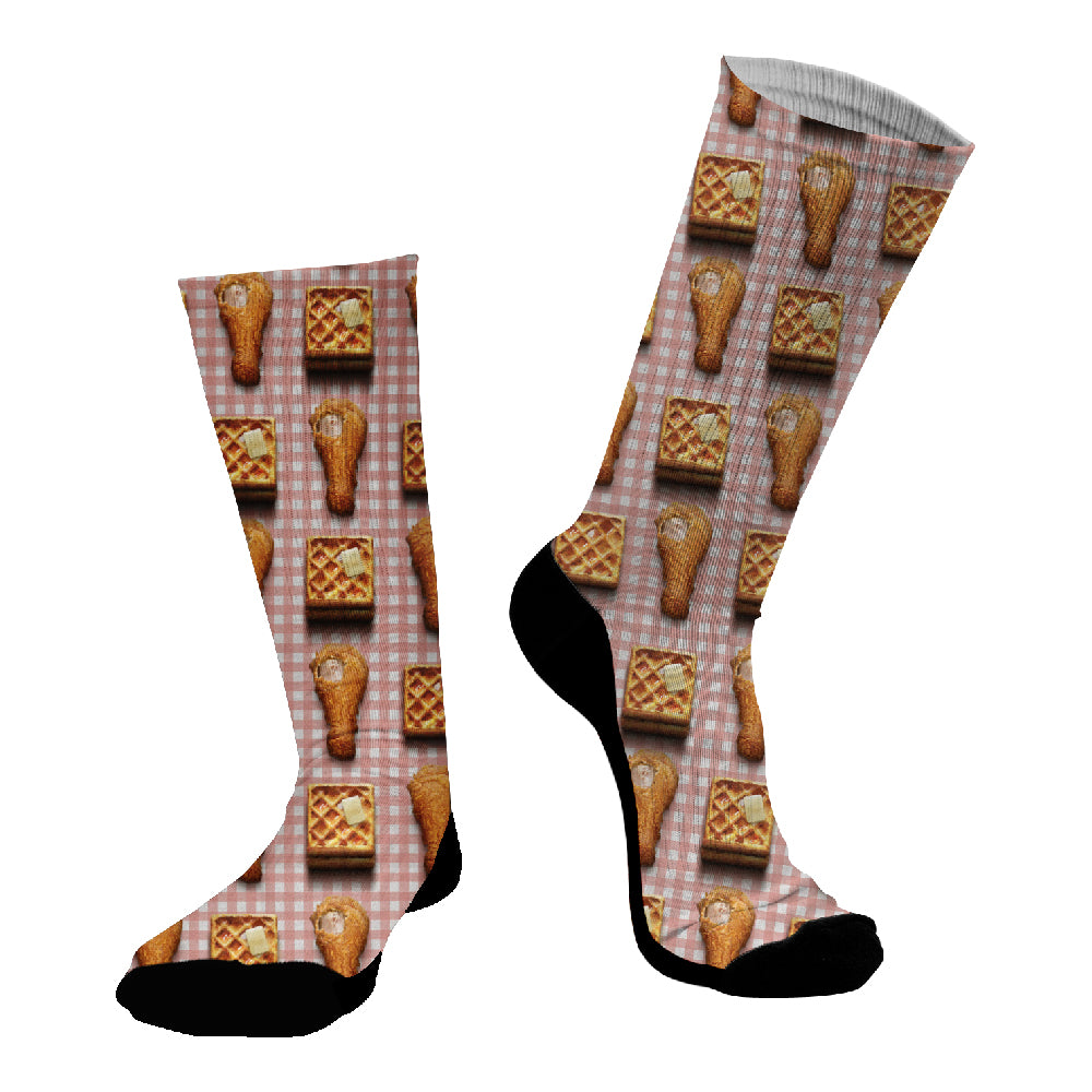 Κάλτσες #doyoudaresocks Digital Printed SuperSport Chicken & Waffle (code 70105)