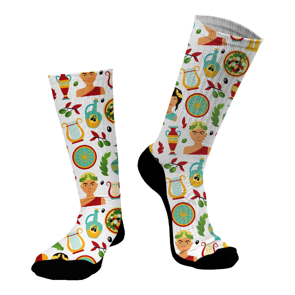 Κάλτσες #doyoudaresocks Digital Printed SuperSport Greek Mythology (code 70112)