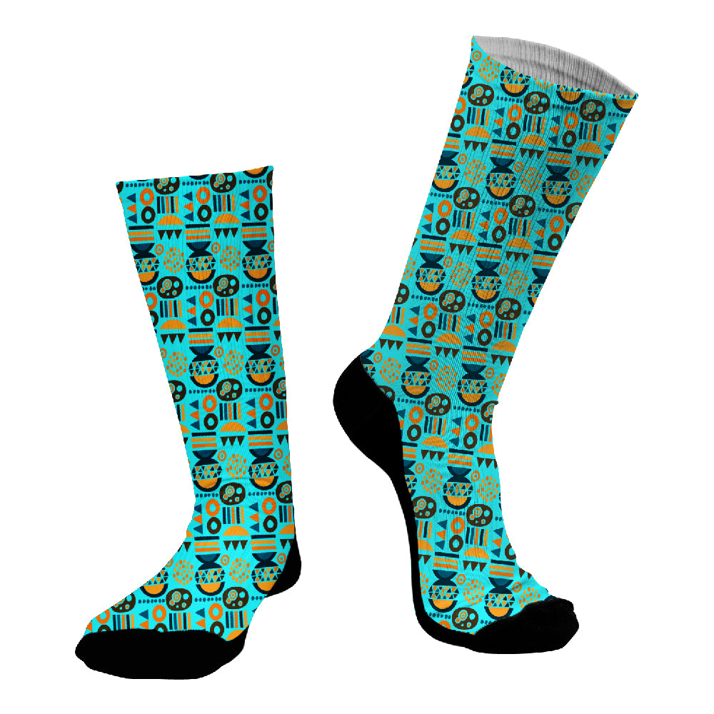 Κάλτσες #doyoudaresocks Digital Printed SuperSport African Drawing (code 70125)