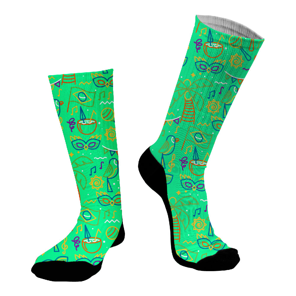 Κάλτσες #doyoudaresocks Digital Printed SuperSport Beach Party (code 70130)