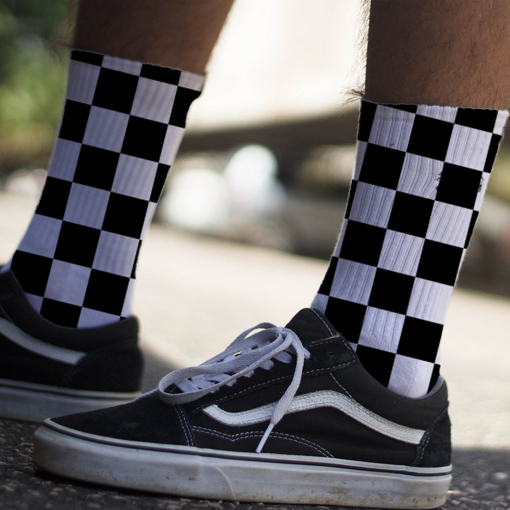 Κάλτσες #doyoudaresocks Digital Printed Casual ChessBoard (code 60068)