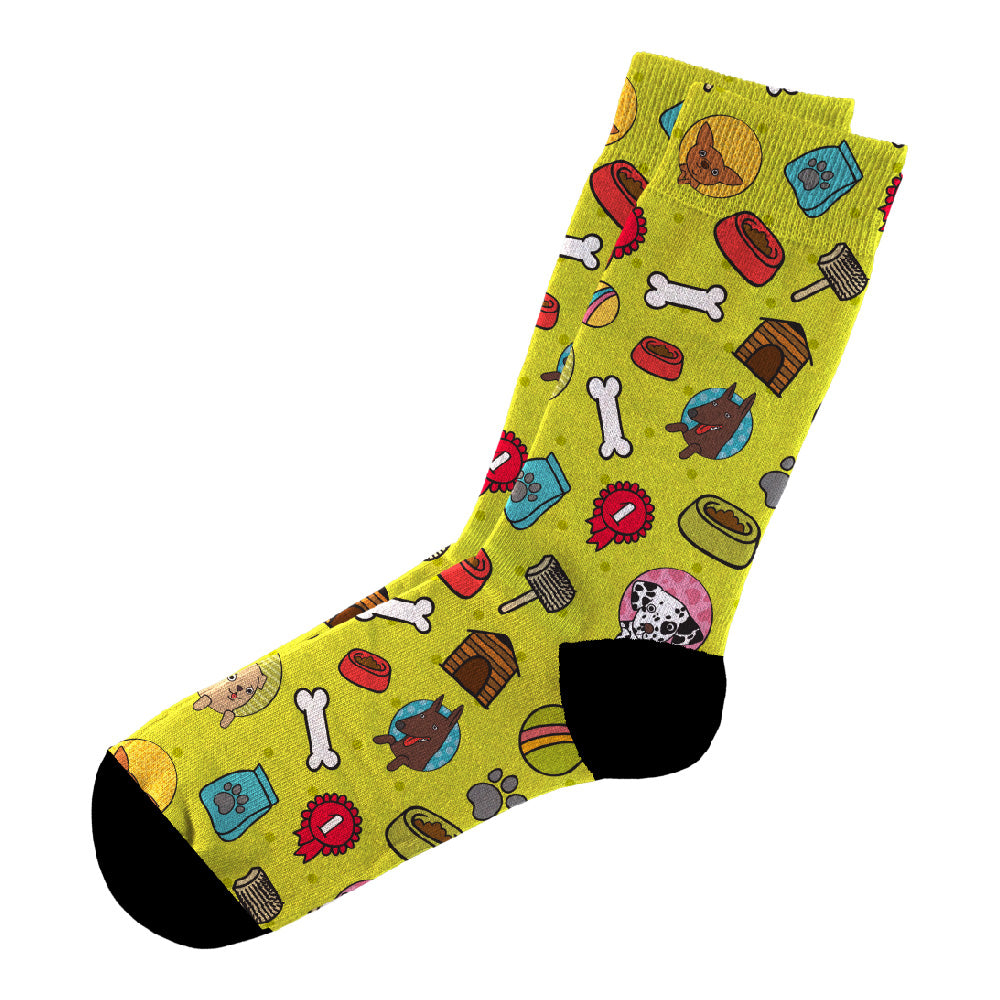 Κάλτσες #doyoudaresocks Digital Printed Casual Dog Lover (code 60037)