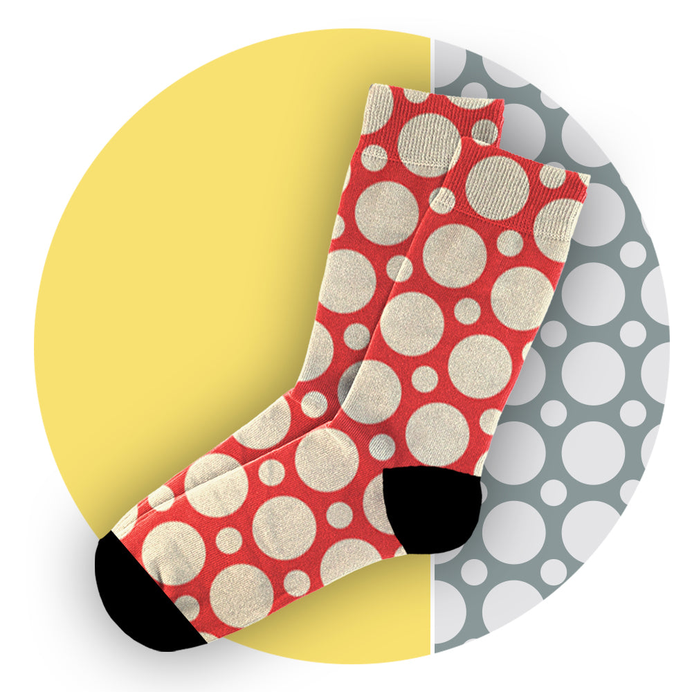 Κάλτσες #doyoudaresocks Digital Printed Casual Circles (code 60003)