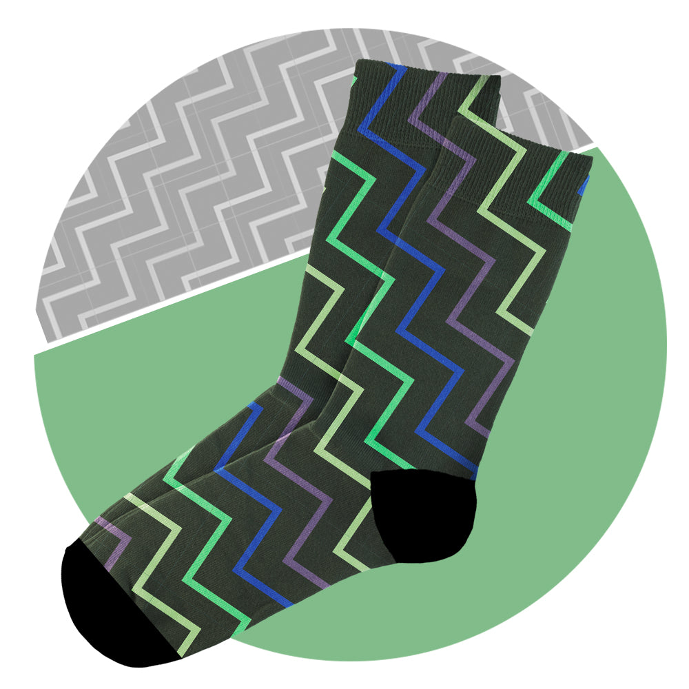Κάλτσες #doyoudaresocks Digital Printed Casual Waves (code 60004)