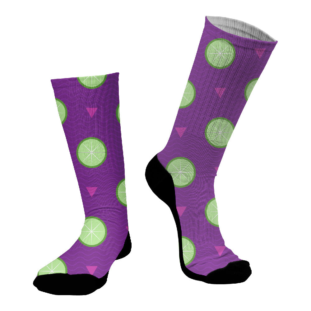 Κάλτσες #doyoudaresocks Digital Printed SuperSport Lime (code 70023)