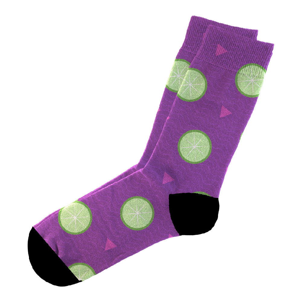 Κάλτσες #doyoudaresocks Digital Printed Casual Lime (code 60014)