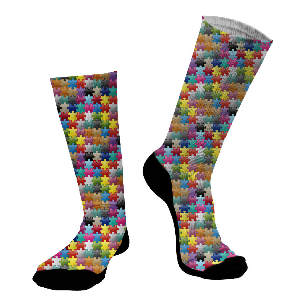 Κάλτσες #doyoudaresocks Digital Printed SuperSport Puzzle (code 70033)