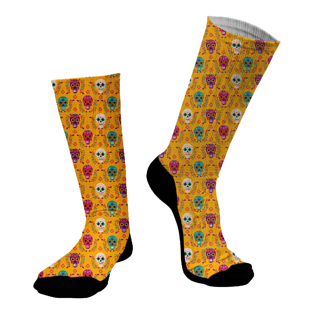 Κάλτσες #doyoudaresocks Digital Printed SuperSport Colorful Skulls (code 70036)