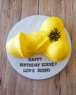 Penis cake - Yellow | Online Store USA