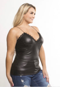 Ke-Ke  Vegan Leather Cami