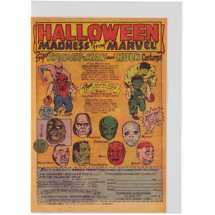 Acme Card Co Halloween Marvel Silk Greeting Card