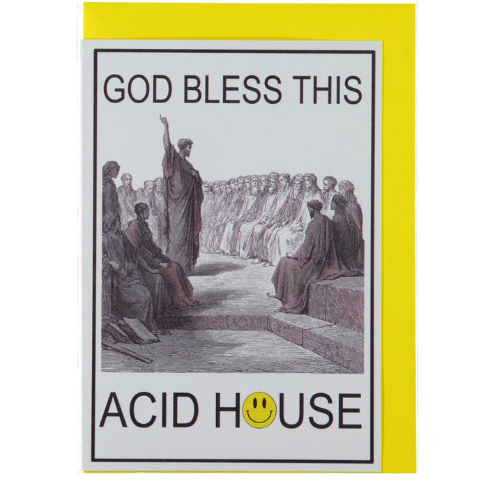 Acme Card Co God Bless This Acid House Pearl Greeting Card