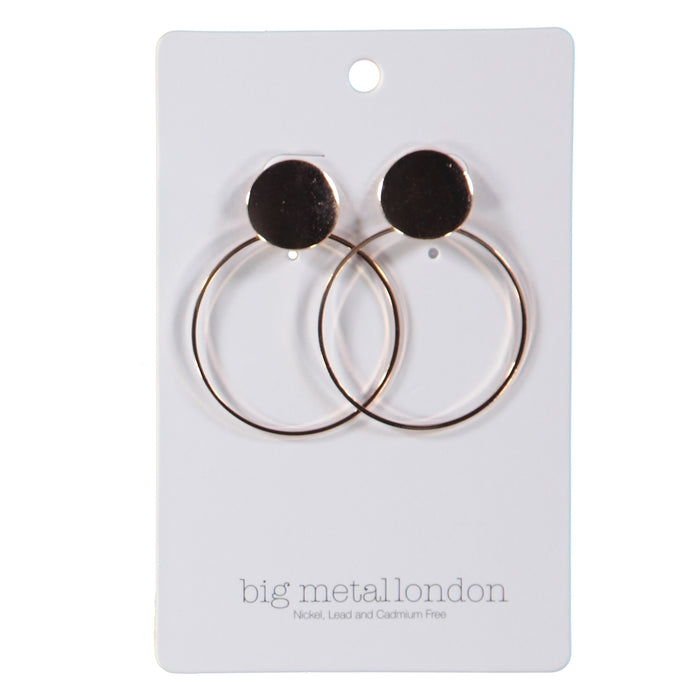Big Metal London Samira Oversized Circle Earrings Rose