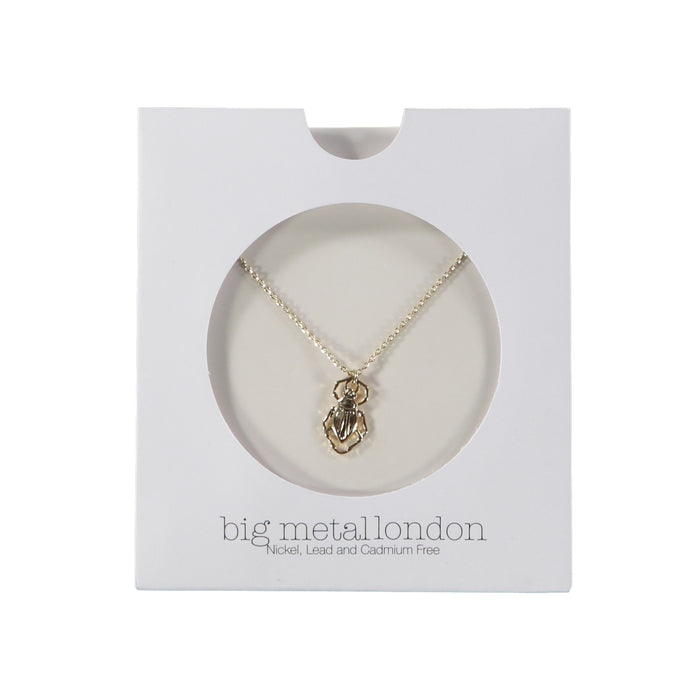 Big Metal London Louise Bug Delicate Pendant Gold