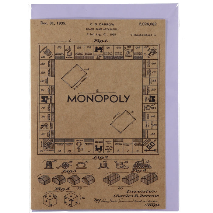 Acme Card Co 1935 Monopoly Patent Kraft Greeting Card