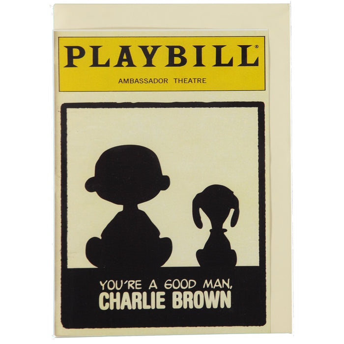 Acme Card Co Playbill Charlie Brown Silk Greeting Card