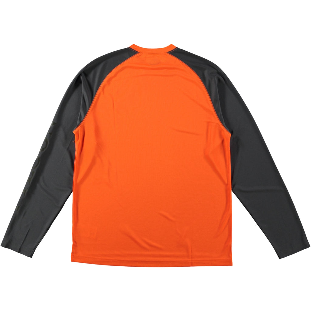Filson Long Sleeve Barrier T-Shirt Blaze Orange Grey