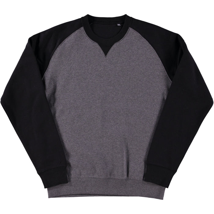Russell Authentic Baseball Sweatshirt Carbon Melange Black