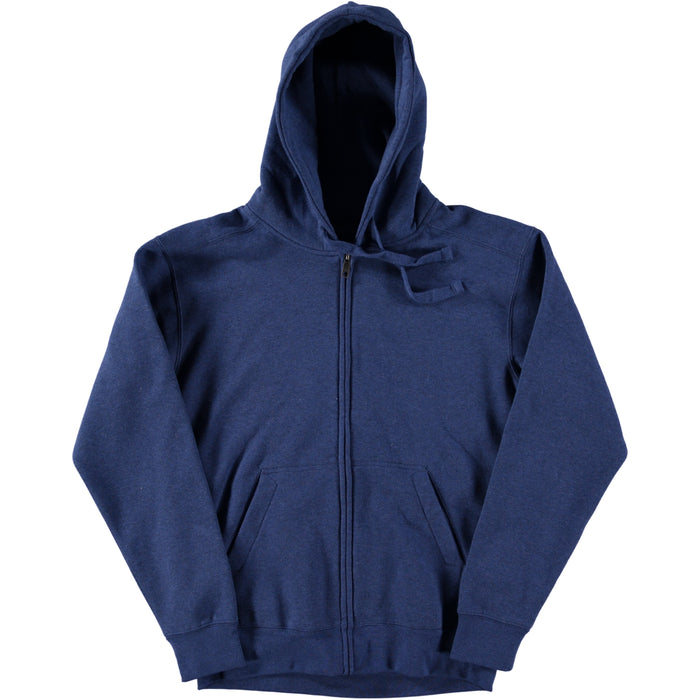 Russell Authentic Melange Zipped Hooded Sweatshirt Ocean Blue