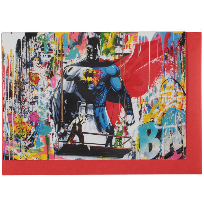 Acme Card Co Mr Brainwash Superheroes Pearl Greeting Card