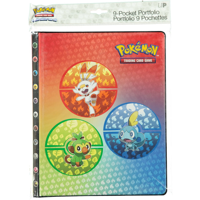 Pokemon TCG 9 Pocket Portfolio Pokemon Sword & Shield Galar Starters