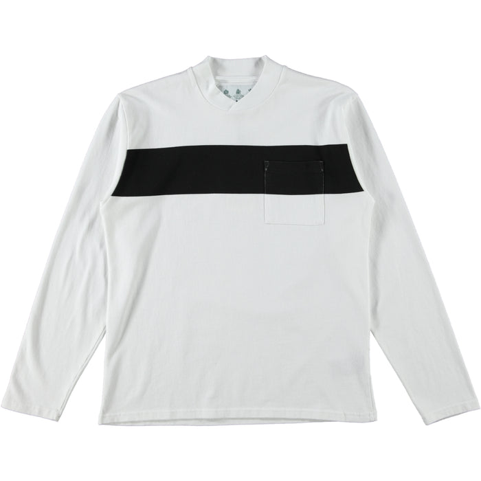 Barbour White Label Band Pocket Tee White