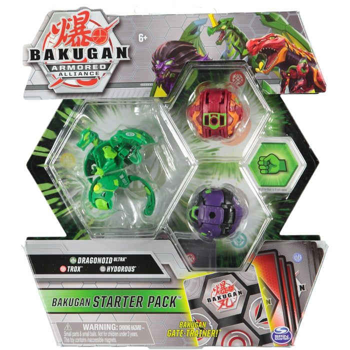 Bakugan Armoured Alliance Bakugan Starter Pack Dragonoid Ultra Trox Hydorous