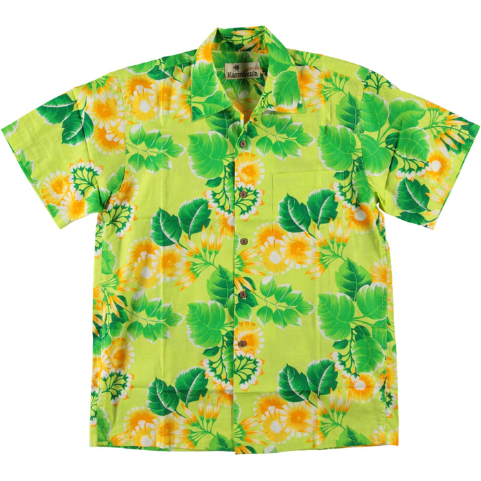 Karmakula Hawaiian Shirt Five-O Lime