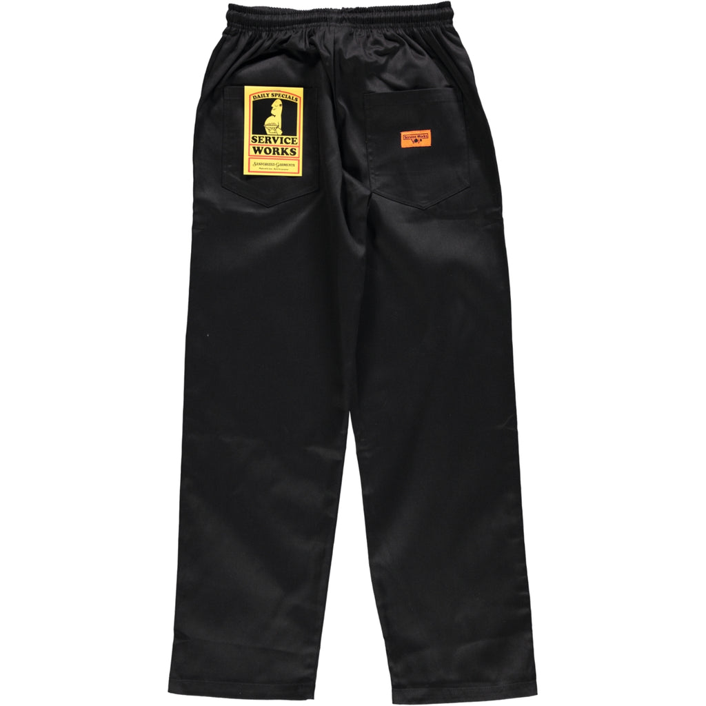 Service Works Classic Chef Pants Black