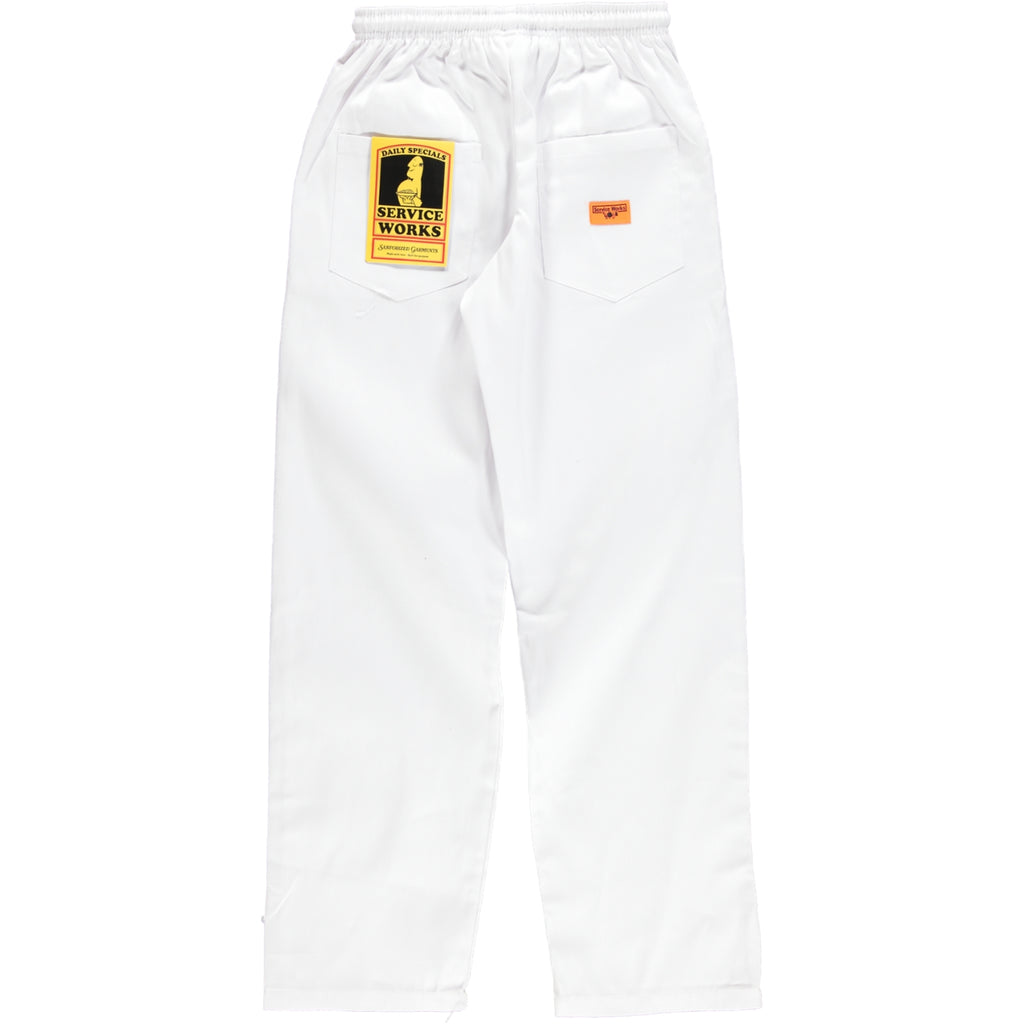 Service Works Classic Chef Pants White