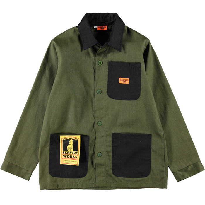 Service Works Bakers Work Jacket Woodland