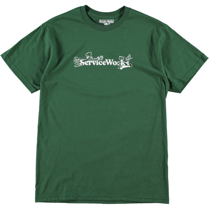 Service Works Chase Tee Forest Green