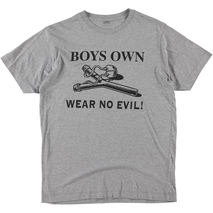 Boy's Own Productions Wear No Evil Tee Grey Black