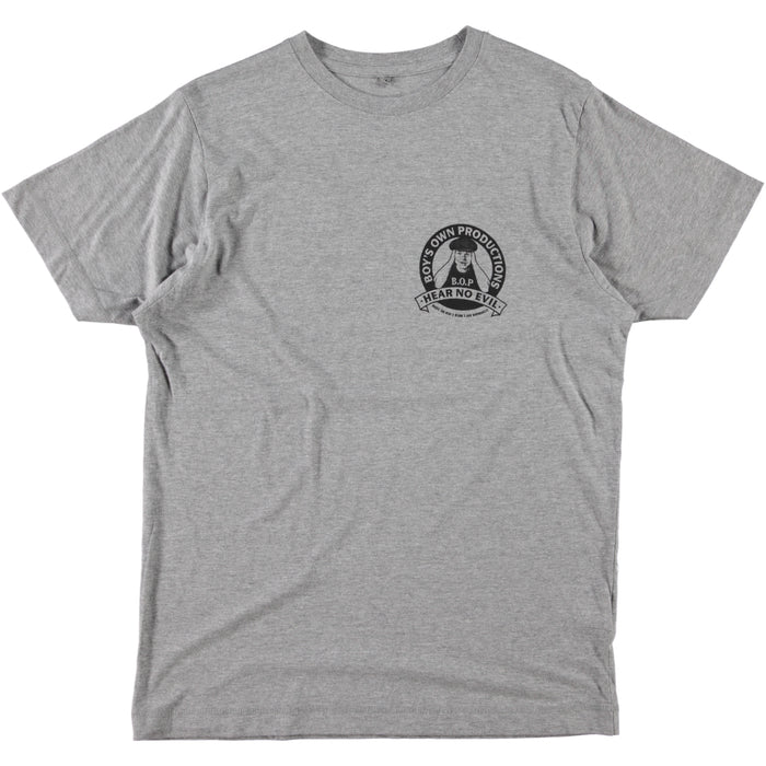 Boy's Own Productions Hear No Evil Tee Grey Black
