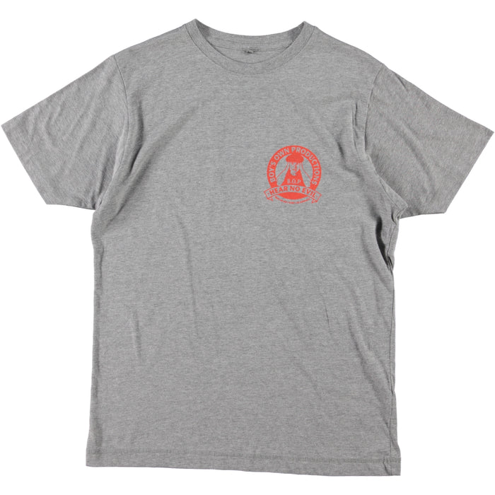 Boy's Own Productions Hear No Evil Tee Grey Blood Orange