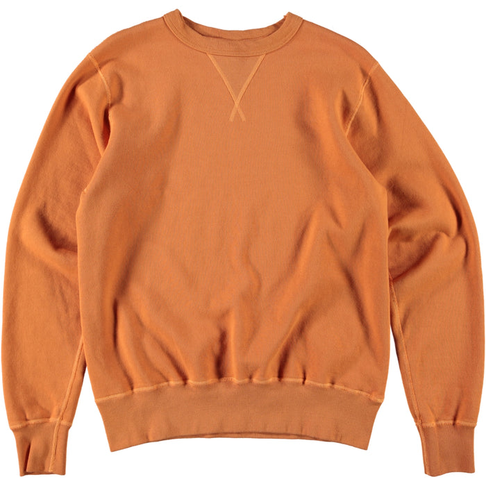 Buzz Rickson's Plain 4 Needle Sweatshirt Orange