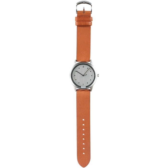 Hypergrand 01 Nato Watch Silver Classic Honey Leather Strap
