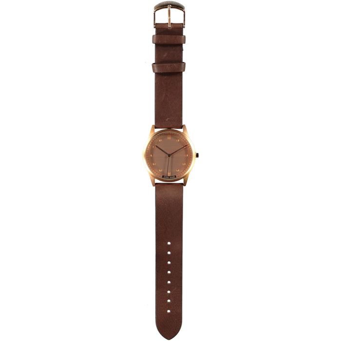 Hypergrand 01 Nato Watch Rose Gold Classic Brown Leather Strap