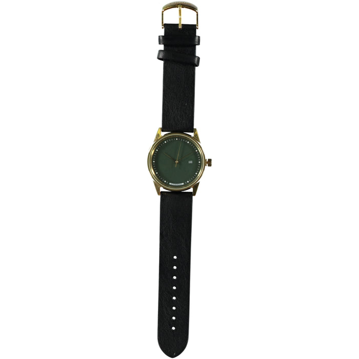 Hypergrand Maverick Gold Green Watch Classic Black Strap