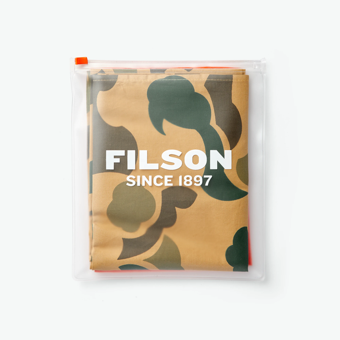 Filson Sportsman Bandana 2-Pack Light Shrub Camo Flame Orange