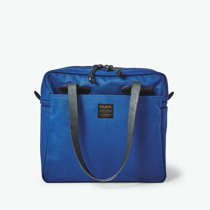 Filson Rugged Twill Tote Bag with Zipper Flag Blue