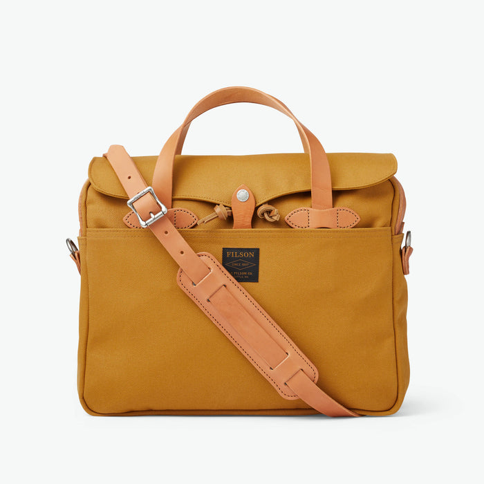 Filson Rugged Twill Original Briefcase Chessie Tan
