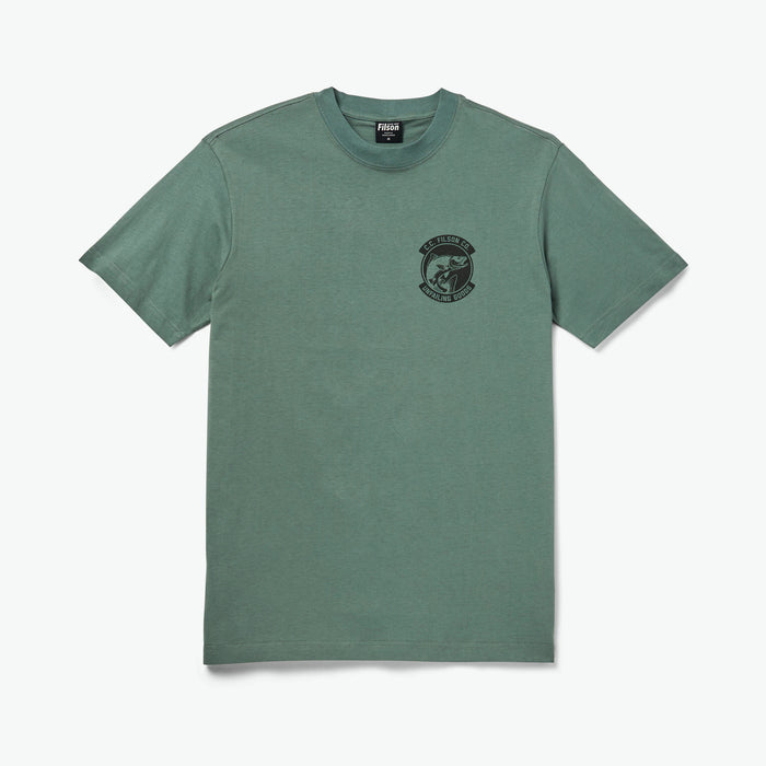 Filson Shirt Sleeve Ranger Graphic T-Shirt Lake Green CC Fish